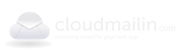 cloudmailin logo, incoming email for your web app